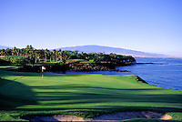 Mauna Kea golf course hole #3, North Kohala, big island of Hawaii
