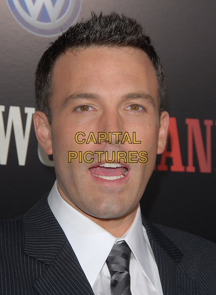 "BEN AFFLECK .The ""Hollywoodland"" Premiere held at The Academy of Arts and Science in Beverly Hills, California on .September 7th, 2006.Ref: DVS.headshot portrait mouth open.www.capitalpictures.com.sales@capitalpictures.com.©Debbie VanStory/Capital Pictures"