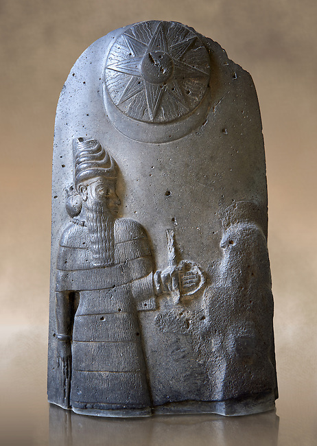 Basalt Babylonian sculpture reporting the spoils of war, 12th cent.BC. The Louvre Museum, Paris.