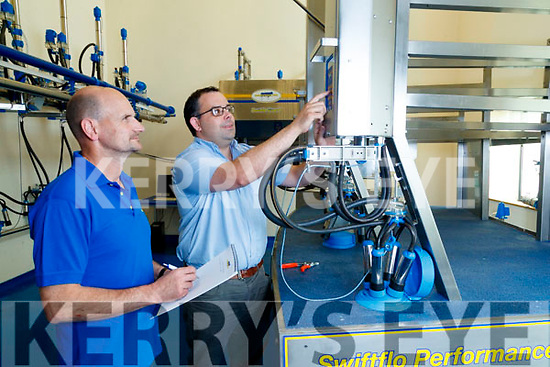 Patrick Dineen (Insulation) and Sean Leahy (Senior Product Engineer), pictured in the Training room at Dairymaster, Causeway.