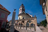 Slowenien, Kranj, Rozvenska Cerkev, Arkade von Plecnik