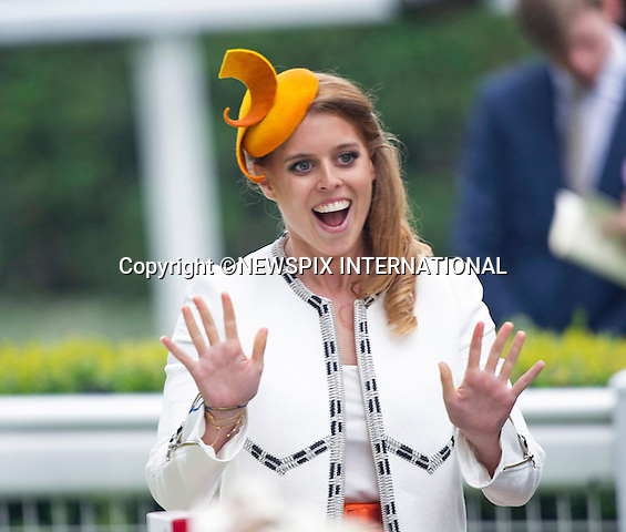 19.06.2014;Ascot, England: ROYAL ASCOT 2014 LADIES DAY - PRINCESSES BEATRICE<br /> The Queen, Duke of Edinburgh, Princes Andrew and Harry Prince Harry, Princesses Anne, Eugenie and Beatrice in attendance on the Ladies Day of the 4-day Royal Ascot Race Meeting.<br /> Mandatory Photo Credit: &copy;Francis Dias/NEWSPIX INTERNATIONAL<br /> <br /> **ALL FEES PAYABLE TO: &quot;NEWSPIX INTERNATIONAL&quot;**<br /> <br /> PHOTO CREDIT MANDATORY!!: NEWSPIX INTERNATIONAL(Failure to credit will incur a surcharge of 100% of reproduction fees)<br /> <br /> IMMEDIATE CONFIRMATION OF USAGE REQUIRED:<br /> Newspix International, 31 Chinnery Hill, Bishop's Stortford, ENGLAND CM23 3PS<br /> Tel:+441279 324672  ; Fax: +441279656877<br /> Mobile:  0777568 1153<br /> e-mail: info@newspixinternational.co.uk