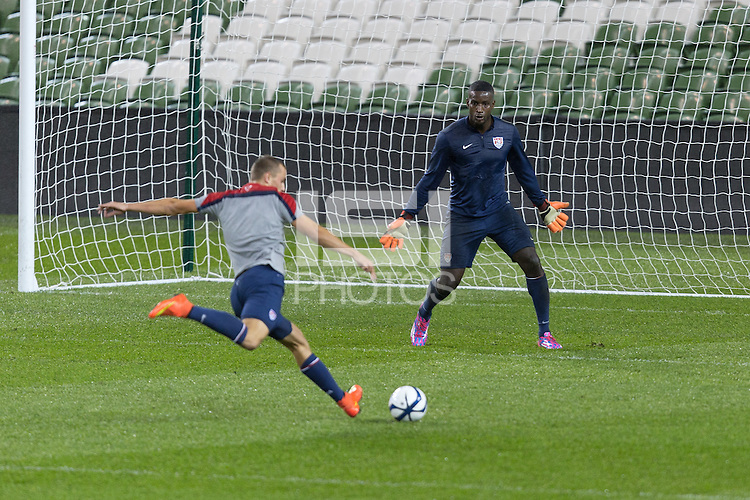 Dublin, Ireland - Monday, November 17, 2014: U.S. Men's National Team Training at Aviva Stadium.