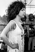 Grace Slick at Woodstock 1969, Bethel, NY.<br /> Photo Credit: Baron Wolman\AtlasIcons.com