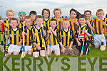 ABBEYDORNEY: The Abbeydorney Hurling side clashing the ash at the Hurling Blitz at Kilmoyley Hurling Club on Monday evening front l-r: Oisin Manusell, Keith O'Connor, Shane Conway, Jack Sheehan, Mikey Clifford and Eoin McCarthy. Back l-r: Adam Manusell, Jack Parker, Aidan Leahy, Oliver Hearte, Dean O'Brien, Killian Spillane, Jamie Herbert and Robbie Sheehan.   Copyright Kerry's Eye 2008