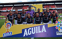 CÚCUTA-COLOMBIA, 27-11-2019: Jugadores de Cúcuta Deportivo posan para una foto antes de partido de la fecha 6 de los cuadrangulares semifinales entre Cúcuta Deportivo y Atlético Nacional, por la Liga Águila II 2019, jugado en el estadio General Santander de la ciudad de Cúcuta. / Players of Cucuta Deportivo pose for a photo prior a match of the 6th date of the quarters semifinals between Cucuta Deportivo and Atletico Nacional, for the Aguila Leguaje II 2019 at the General Santander Stadium in Cucuta city. / Photo: VizzorImage / Manuel Hernández / Cont.