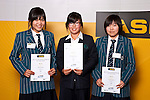Girls Golf finalists Rica Tse, Cecilia Cho & Jane Lee. ASB College Sport Auckland Secondary School Young Sports Person of the Year Awards held at Eden Park on Thursday 12th of September 2009.