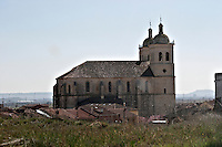 the church in Cigales Valladolid spain castile and leon