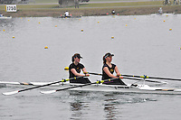 084 DartTotnesRC W.J18A.2x..Marlow Regatta Committee Thames Valley Trial Head. 1900m at Dorney Lake/Eton College Rowing Centre, Dorney, Buckinghamshire. Sunday 29 January 2012. Run over three divisions.