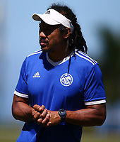 DURBAN, SOUTH AFRICA -Monday February 18th: Tana Umaga (Assistant Coach) of the Blues during the Blues Training at Northwood School Durban North, on February 18th, 2019 in Durban, South Africa. (Photo by Steve Haag / stevehaagsports.com)