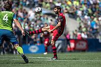 Seattle, Washington - Saturday, May 27, 2017: Seattle Sounders FC vs Portland Timbers. Final Score: Seattle Sounder FC 1, Portland Timbers 0
