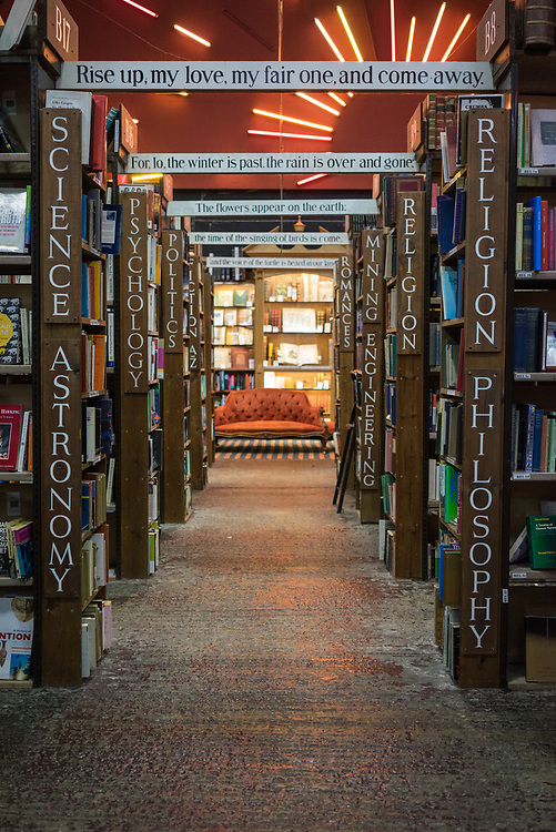 inside Barter Books store in Alnick, Northumberland, England