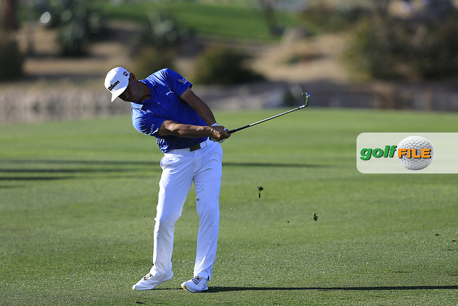 Gary Woodland (USA) on the 15th fairway during the 1st round of the Waste Management Phoenix Open, TPC Scottsdale, Scottsdale, Arisona, USA. 31/01/2019.<br /> Picture Fran Caffrey / Golffile.ie<br /> <br /> All photo usage must carry mandatory copyright credit (&copy; Golffile | Fran Caffrey)