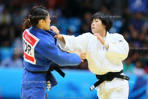 Anzu Yamamoto (JPN), <br /> SEPTEMBER 23, 2014 - Judo : <br /> Women's Team Final <br /> at Dowon Gymnasium <br /> during the 2014 Incheon Asian Games in Incheon, South Korea. <br /> (Photo by Yohei Osada/AFLO SPORT)