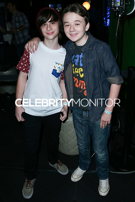 HOLLYWOOD, LOS ANGELES, CA, USA - NOVEMBER 10: Robbie Tucker, Benjamin Stockham arrive at the HaloFest - Halo: The Master Chief Collection Launch Event held at Avalon on November 10, 2014 in Hollywood, Los Angeles, California, United States. (Photo by Xavier Collin/Celebrity Monitor)