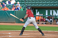 Amalani Fukofuka (8) of the Idaho Falls Chukars at bat against the Ogden Raptors in Pioneer League action at Lindquist Field on August 26, 2015 in Ogden, Utah. Ogden defeated the Chukars 5-1. (Stephen Smith/Four Seam Images)