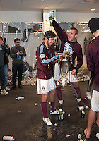 21 November 2010:  Colorado Rapids defender Julien Baudet #21celebrates with Colorado Rapids defender Kosuke Kimura #27after winning the 2010 MLS CUP between the Colorado Rapids and FC Dallas at BMO Field in Toronto, Ontario Canada..The Colorado Rapids won 2-1 in extra time....