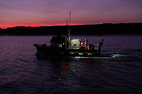 The F/V Tulch'ina fishes for sockeye salmon on the Nushagak River in Bristol Bay in Alaska on July 7, 2019. (Photo by Karen Ducey)