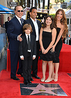 LOS ANGELES, CA. October 10, 2019: Tommy Mottola, Thalia Mottola, Michael Mottola & Family at the Hollywood Walk of Fame Star Ceremony honoring Tommy Mottola.<br /> Pictures: Paul Smith/Featureflash