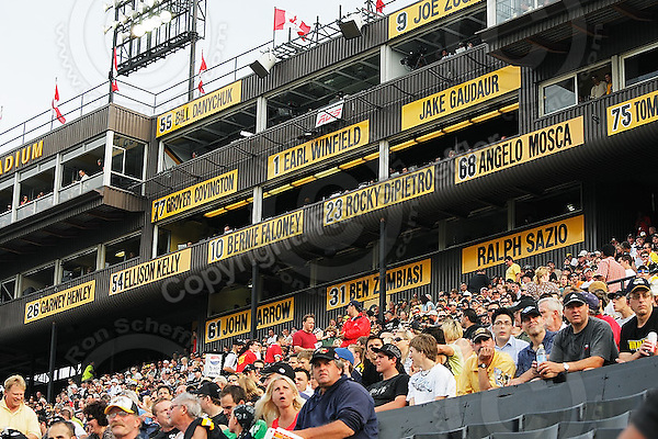 June 26, 2008; Hamilton, ON, CAN; Hamilton Tiger-Cats supporters. CFL football - Montreal Alouettes defeated the Hamilton Tiger-Cats 33-10 at Ivor Wynne Stadium. Mandatory Credit: Ron Scheffler-www.ronscheffler.com. Copyright (c) Ron Scheffler