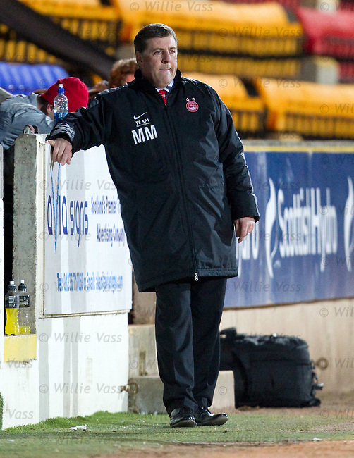 Mark McGhee looking stoic on the sidelines