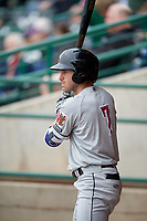 Wisconsin Timber Rattlers left fielder Caleb Whalen (7) on deck during a game against the Fort Wayne TinCaps on May 10, 2017 at Parkview Field in Fort Wayne, Indiana.  Fort Wayne defeated Wisconsin 3-2.  (Mike Janes/Four Seam Images)