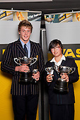 Young Sportspersons of the Year, Jacko Gill and Cecilia Cho. ASB College Sport Young Sportsperson of the Year Awards held at Eden Park, Auckland, on November 11th 2010.