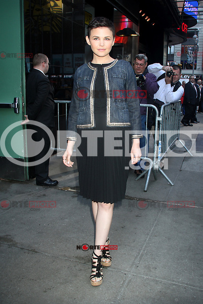 May 10, 2012: Ginnifer Goodwin arrives at Good Morning America in New York City to talk about her ABC TV series Once Upon a Time. Credit: RW/MediaPunch Inc.