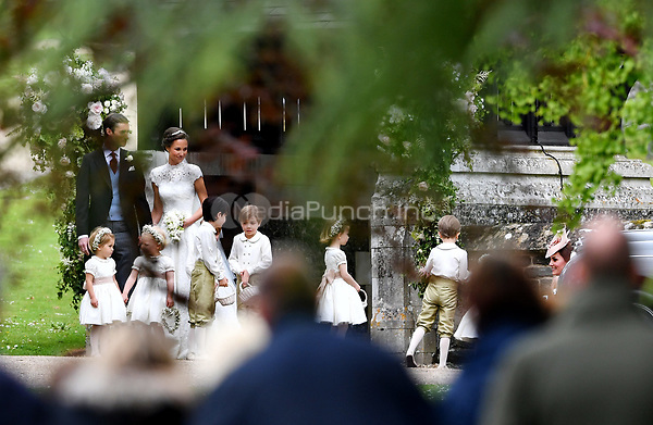 Pippa Middleton and James Matthews at the St. Marks Church after their wedding, Englefield, Britain, May 20, 2017. Photo: Frank May | usage worldwide/picture alliance /MediaPunch ***FOR USA ONLY***