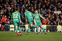 6th February 2020; Estadio Santiago Bernabeu, Madrid, Spain; Copa Del Rey Football, Real Madrid versus Real Sociedad; Mikel Merino (Real Sociedad)  celebrates his goal which made it 1-4 in the 69th minute
