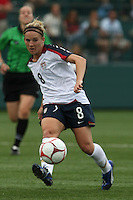 USWNT's Amy Rodriguez (8). The U.S. Women's National Team defeated Canada 1-0 in a friendly match at Marina Auto Stadium in Rochester, NY on July 19, 2009. Abby Wambach of the USWNT scored her 100th career goal in the second half..