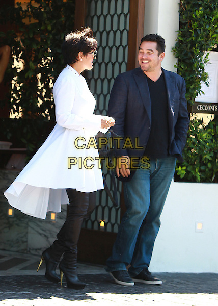 WEST HOLLYWOOD, CA - AUGUST 27: Kris Jenner and Dean Cain seen leaving Cecconi's in West Hollywood, California on August 27, 2014.  <br /> CAP/MPI/JM<br /> &copy;John Misa/MediaPunch/Capital Pictures