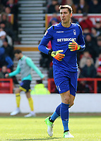 Nottingham Forest's Costel Pantilimon in action<br /> <br /> Photographer David Shipman/CameraSport<br /> <br /> The EFL Sky Bet Championship - Nottingham Forest v Blackburn Rovers - Saturday 13th April 2019 - The City Ground - Nottingham<br /> <br /> World Copyright © 2019 CameraSport. All rights reserved. 43 Linden Ave. Countesthorpe. Leicester. England. LE8 5PG - Tel: +44 (0) 116 277 4147 - admin@camerasport.com - www.camerasport.com