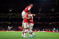 Celebrations after Gabriel Martinelli of Arsenal goal  during the UEFA Europa League match between Arsenal and Standard Liege at the Emirates Stadium, London, England on 3 October 2019. Photo by Andrew Aleks.