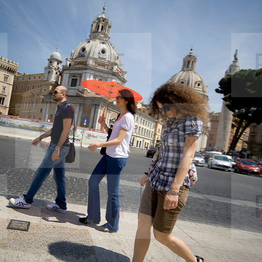 Turisti a Roma.<br /> Tourists in Rome