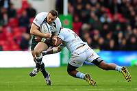 Greg Bateman of Leicester Tigers takes on the Racing 92 defence. European Rugby Champions Cup semi final, between Leicester Tigers and Racing 92 on April 24, 2016 at The City Ground in Nottingham, England. Photo by: Patrick Khachfe / JMP