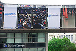 BRUSSELS - BELGIUM - 24 April 2019 -- Posters on the square of the EP by place Luxembourg.  -- PHOTO: Juha ROININEN / EUP-IMAGES