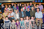 80TH BIRTHDAY: Tom McCarthy, Maine Street, Castleisland (seated centre) enjoying a great time celebrating his 80th birthday with a large group of family and friends at Kingdom Greyhound Stadium on Friday.