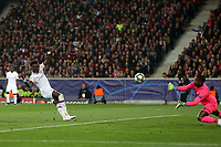 Tammy Abraham of Chelsea scores the first goal during Lille OSC vs Chelsea, UEFA Champions League Football at Stade Pierre-Mauroy on 2nd October 2019