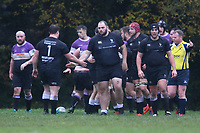 Harpenden celebrate a try Woodford RFC vs Harpenden RFC, London 1 North Division Rugby Union at Highams on 9th November 2019