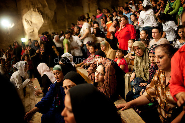 Separated from men during Thursday evening prayer, some women decide to stay longer at the end of the sermon in order to receive exorcism.<br /> <br />  <br /> <br /> copyright : Magali Corouge / Documentography