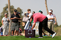 Shane Lowry (IRL) getting some water on the 4th tee during Round 2 of the Omega Dubai Desert Classic, Emirates Golf Club, Dubai,  United Arab Emirates. 25/01/2019<br /> Picture: Golffile | Thos Caffrey<br /> <br /> <br /> All photo usage must carry mandatory copyright credit (© Golffile | Thos Caffrey)