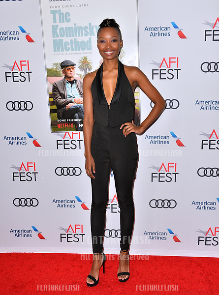 "LOS ANGELES, CA. November 10, 2018: Ashleigh LaThrop at the AFI Fest 2018 world premiere of ""The Kominsky Method"" at the TCL Chinese Theatre.<br /> Picture: Paul Smith/Featureflash"