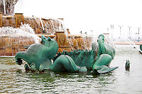 Buckingham Fountain in Grant Park. Chicago Illinois USA