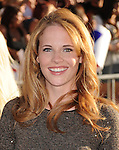 "HOLLYWOOD, CA - JULY 19: Katie Leclerc attends the Los Angeles Premiere of ""Captain America: The First Avenger"" at the El Capitan Theatre on July 19, 2011 in Hollywood, California."