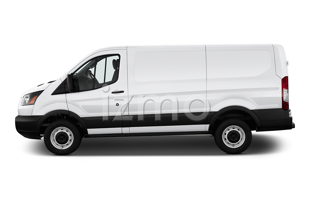 Car driver side profile view of a 2019 Ford Transit Van 250 LR 4 Door Cargo Van