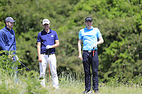 Thomas O'Connor (Athlone), Jack Pierse (Portmarnock) and Mark Power (Kilkenny) during the 1st round of the East of Ireland championship, Co Louth Golf Club, Baltray, Co Louth, Ireland. 02/06/2017<br /> Picture: Golffile | Fran Caffrey<br /> <br /> <br /> All photo usage must carry mandatory copyright credit (&copy; Golffile | Fran Caffrey)