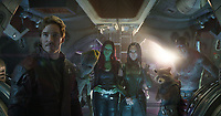 Avengers: Infinity War (2018) <br /> Chris Pratt, Zoe Saldana, Pom Klementieff &amp; Dave Bautista<br /> *Filmstill - Editorial Use Only*<br /> CAP/KFS<br /> Image supplied by Capital Pictures