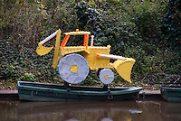 Digger Boat for kids, children's ride on water, earth moving machine plaything