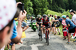 Nicolas Roche (IRL) BMC and Serge Pauwels (BEL) Team Dimension Data climb during Stage 8 of the 104th edition of the Tour de France 2017, running 187.5km from Dole to Station des Rousses, France. 8th July 2017.<br /> Picture: ASO/Alex Broadway | Cyclefile<br /> <br /> <br /> All photos usage must carry mandatory copyright credit (&copy; Cyclefile | ASO/Alex Broadway)